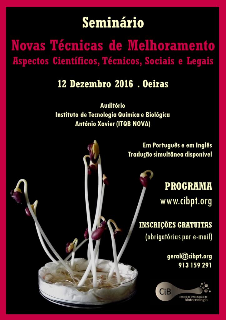 Cartaz A4 - Seminar NBTs - 12 Dez 2016 - PT