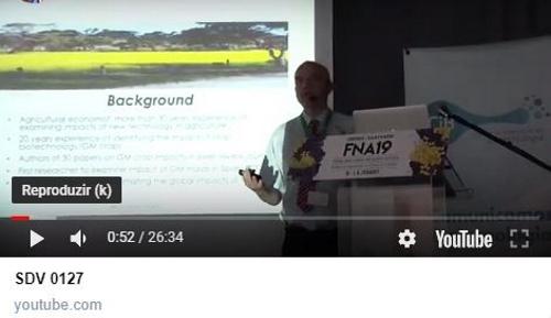 Vídeo | Graham Brookes apresenta estudo inédito sobre impactos do milho Bt em Portugal e Espanha