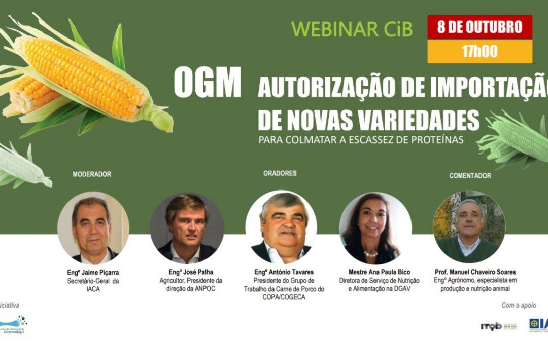 Webinar | CiB promove debate sobre a necessidade de novas variedades GM para alimentação animal